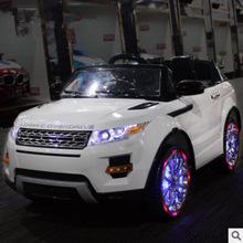 新款儿童电动车可坐小孩遥控玩具车四轮发光汽车好来喜童车越野车