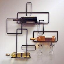 厂家直销定制 创意红酒架高脚杯架 铁艺悬挂红酒架子