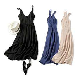 18 summer new products forever eighteen years old wild artifact V-neck high waist was thin copper ammonia silk long paragraph dress