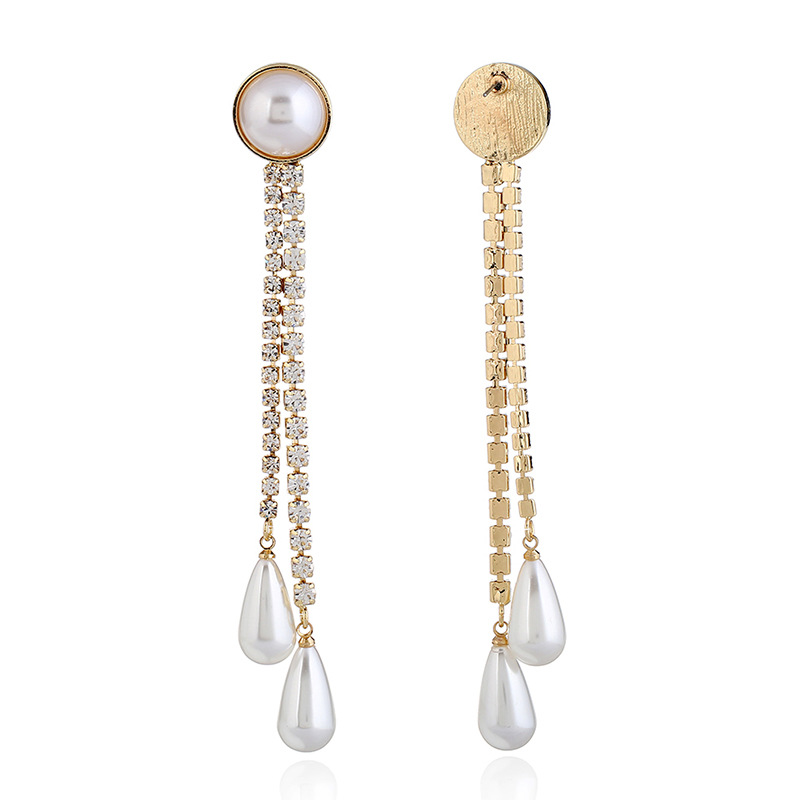 Crystal&CZ Fashion Geometric earring(KC gold white) NHKQ1585-KC gold white