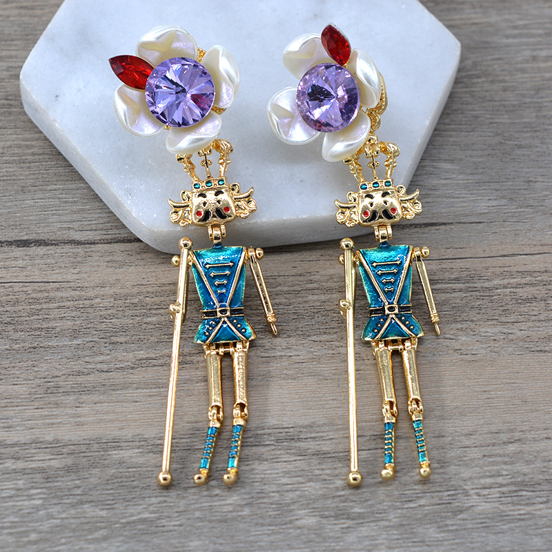 Alloy Fashion Cartoon earring  (A) NHNT0640-A