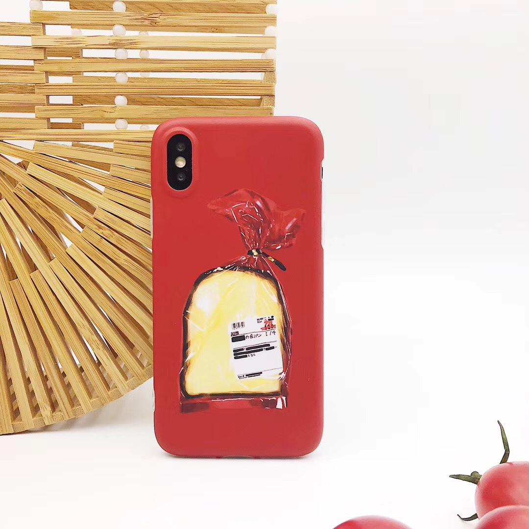Han Feng Creative Bread Scrub iPhone8 Mobile Shell Apple X/7plus/6s Personality All-inclusive Cover