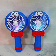 迈得好创意usb手持风扇卡通充电迷你电风扇带小夜灯厂家直销批发