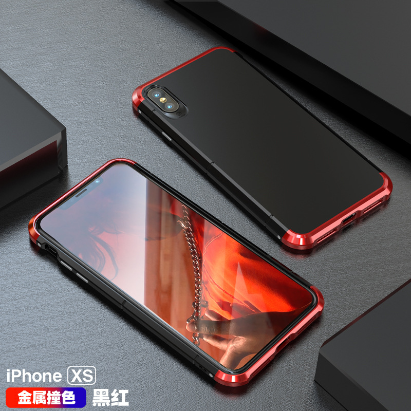GINMIC Shield Aluminum Metal Frame Hard PC Back Cover Case for Apple iPhone XS Max & iPhone XR & iPhone XS
