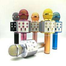 爆款 手機k歌麥克風ws858 無線藍牙K歌寶  KTV直播話筒 工廠直銷