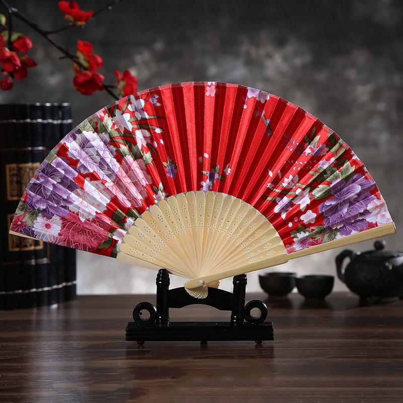 Chinese Fan Chinese Hanfu hand Fan Folding women fan bamboo folding fan folding fan Ding bamboo fan