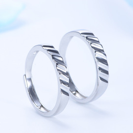 New silver simple wavy couples ring hand-made ring not inlaid models fast-selling hot sale can be issued