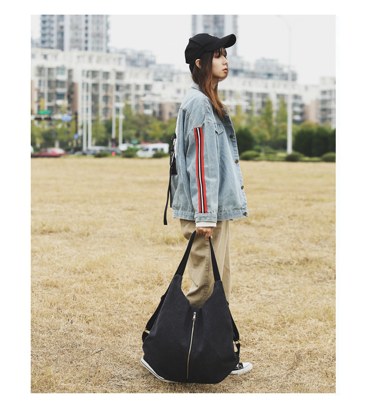 Stylish and simple wild large capacity cloth bag NHLD121223