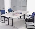 会议桌 办公家具厂家定制 钢木结构现代风格 长沙办公电脑桌椅