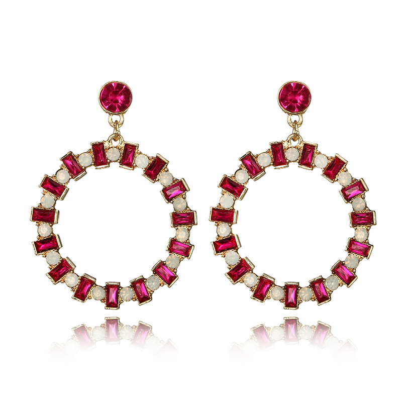 Alloy Simple Geometric earring  red NHGY2293red