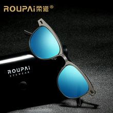 2018新款太阳镜男士偏光镜白天驾驶墨镜0911经典小框太阳眼镜厂家