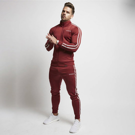 Muscle Dr. Brother European And American New Style Leisure Sportswear Fitness Men Set Autumn And Winter Sweatshirt Wei Pants er jian tao