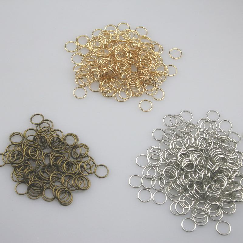 diy手工饰品连接环饰品配件 钥匙圈 开闭口铁圈 常用型号齐全