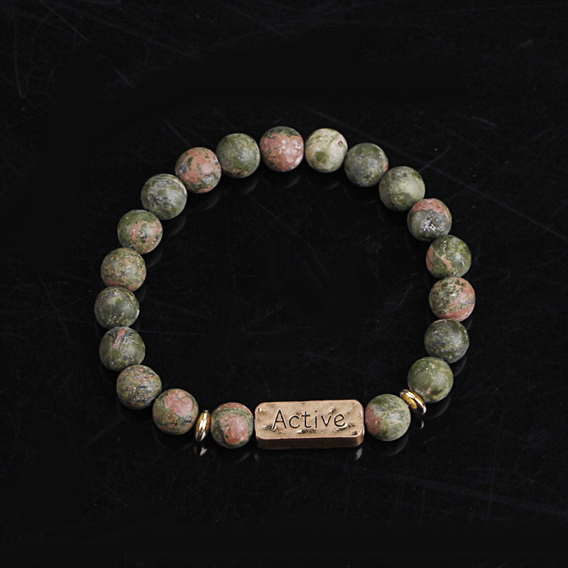 Explosion Bracelet Bracelet Natural Energy Volcano Active Faith Seven-Pulse Yoga Colorful Bracelet wholesale nihaojewelry NHMO219019
