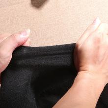 直销黑色针刺无纺布 汽车内饰座椅加热垫阻燃无纺布 烫面压光酷布