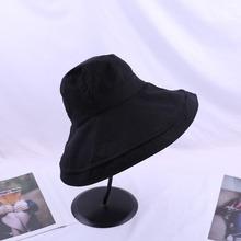 7月新款棉麻布料大檐渔夫帽女士夏季遮阳防晒盆帽可折叠沙滩帽子