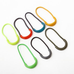 U-shaped injection zipper pull tail rope, clothing zipper puller, PVC puller, luggage zipper puller factory wholesale