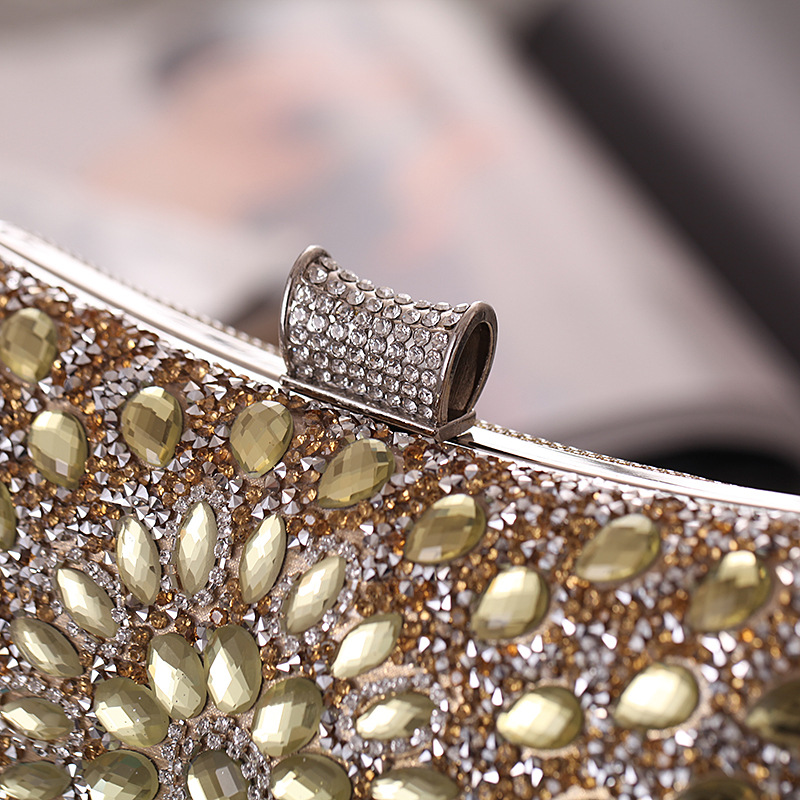 Bags New Europe and the United States Dinner Party Reception Bag Glass Diamond Evening Bag Banquet Women's Clutch NHYG182995