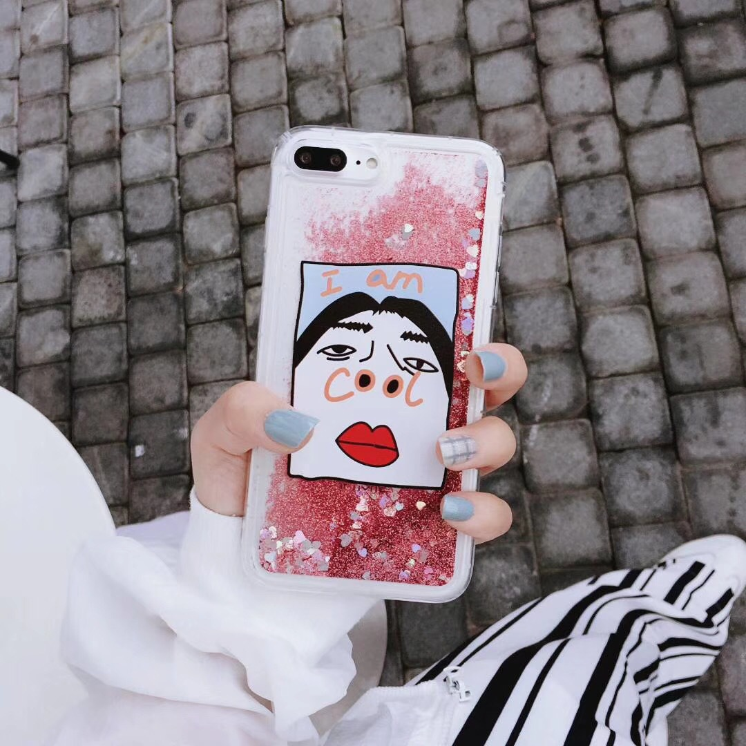 Meitu m6 quick sand glitter I am very cooloppor11 mobile phone shell 7plus personality creative vivox7 tide female models