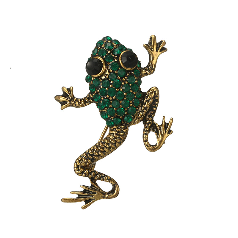 Alloy Vintage Animal brooch(6596 gold + silver) NHGY2562-6596-gold-silver