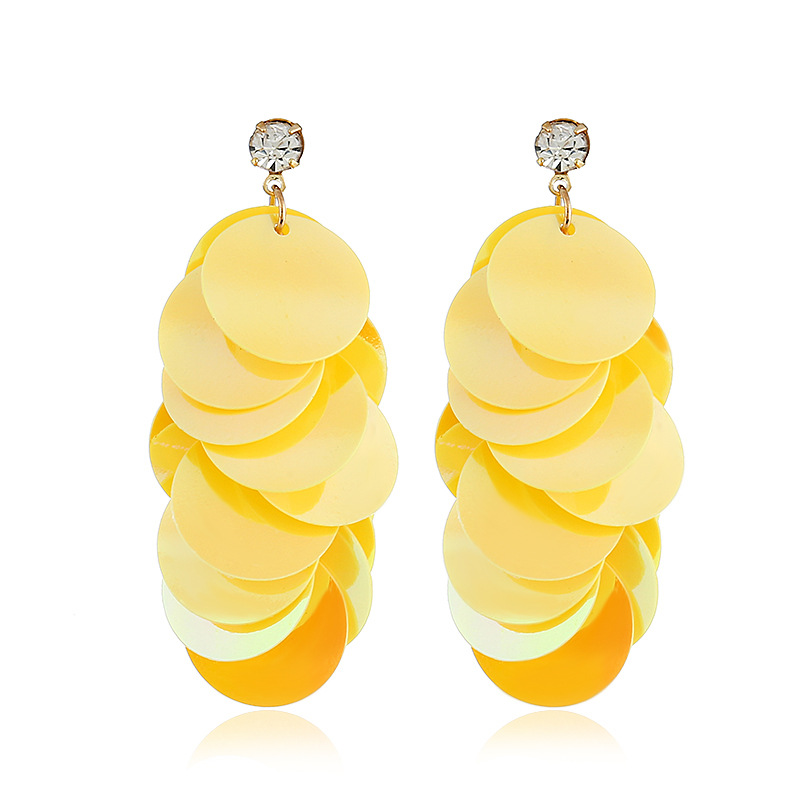 Acrylic Fashion Geometric earring  (yellow) NHVA4995-yellow