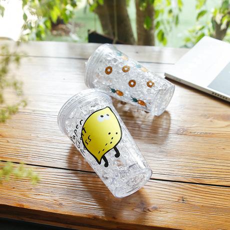 Nhà sản xuất bán buôn trái cây sáng tạo đẩy nắp cốc đá mùa hè lạnh uống nước trái cây cốc cà phê cốc nhựa