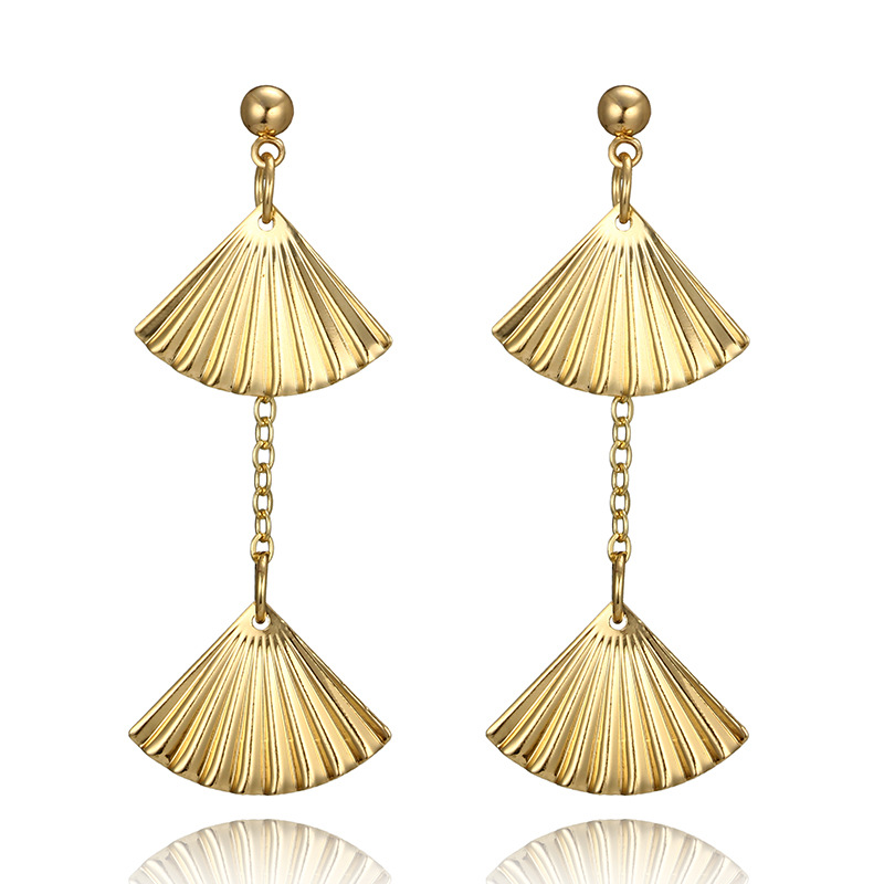 Alloy Bohemia Geometric earring(Golden) NHGY1770-Golden