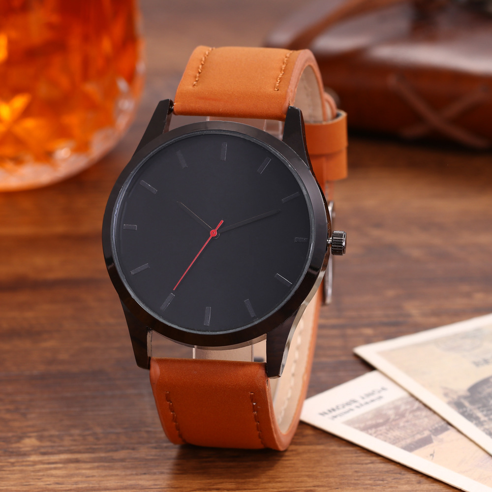 Wish The New Men's Casual Simple Scale Belt Watch Derivative Factory Direct Supply Of Fat