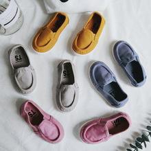 儿童休闲帆布鞋糖果色一脚蹬男女童鞋春新款小板鞋 Ambb·kids