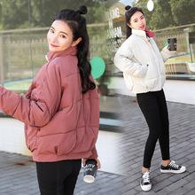 冬季新款短款棉袄女 学生棉衣蝙蝠面包服宽松休闲外套