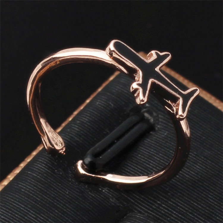 Titanium&Stainless Steel Simple  Ring  (Rose alloy) NHIM1563-Rose-alloy