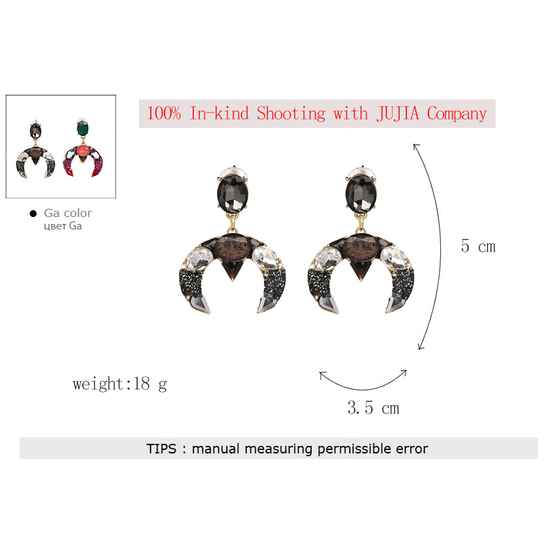 Fashion Plastic earring Geometric NHJJ3947-black
