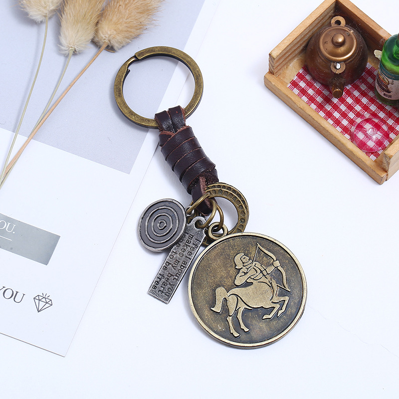 Leather Punk bolso cesta key chain  (Aries) NHPK2094-Aries