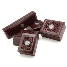 现货批发仿古镂空木盒 高档首饰盒 佛珠手串盒 吊坠密度板把件盒