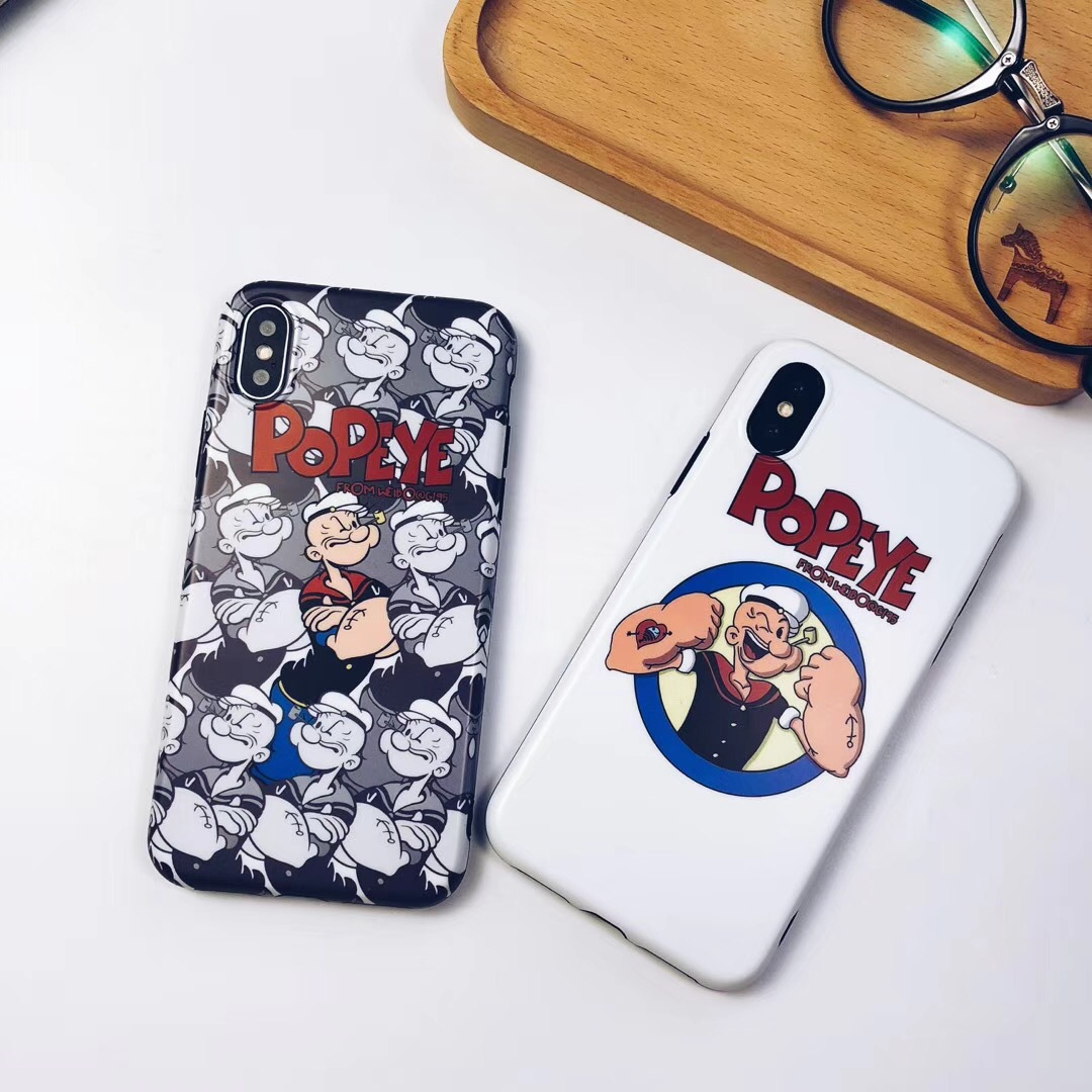 Popeye and Oliver 6splus Apple x mobile phone case iPhone7/8plus tide men and women models silicone sleeve