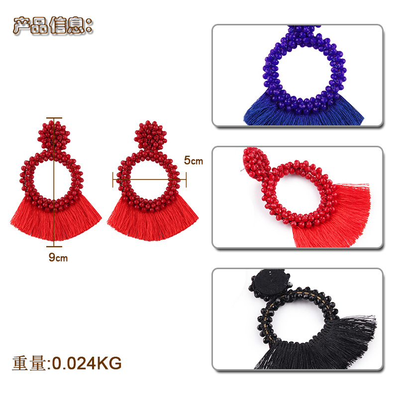 Alloy Fashion Geometric earring(red) NHJQ10477-red