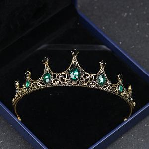 Hairpin hair clip hair accessories for women Crown retro Baroque small crown alloy water diamond crown children performance headdress