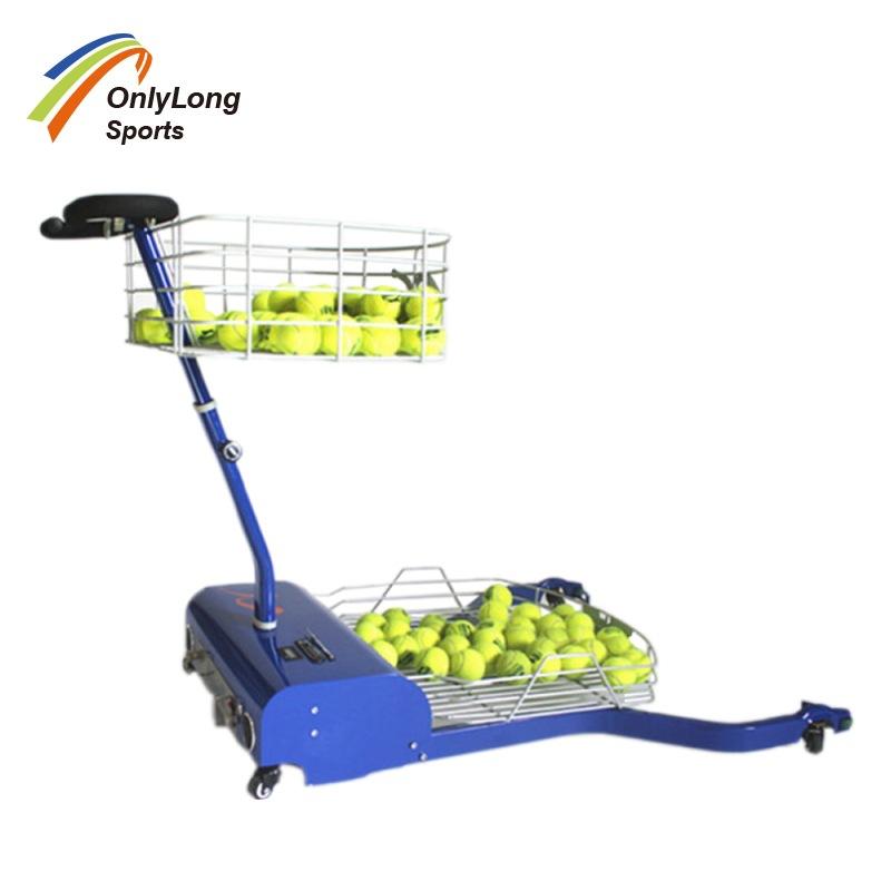 OEM 便携式 自动捡球器 手推机械捡球篮 网球场捡球车 网球捡球机