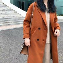 歐美批發2018秋冬雙面呢面料糖果色女式毛呢大衣PP5-19512