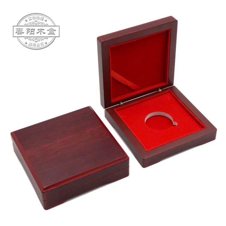 现货批发木盒 高档纪念币盒 金币盒 徽章密度板盒gold coin box