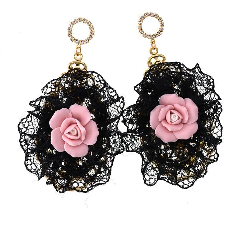 Alloy Vintage Flowers earring  Alloy NHNT0587Alloy