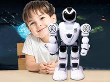 大號戰警模型玩具遙控智能機器人 編程自動演示可發射跳舞機器人