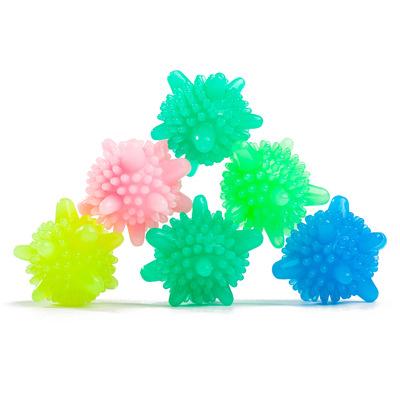 货源厂家直销魔力去污洗衣球pvc多彩海星洗衣机实心球强力去污防缠绕批发