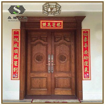 厂家直供 室内实木门批发 中式古典实木门 美国白蜡木门