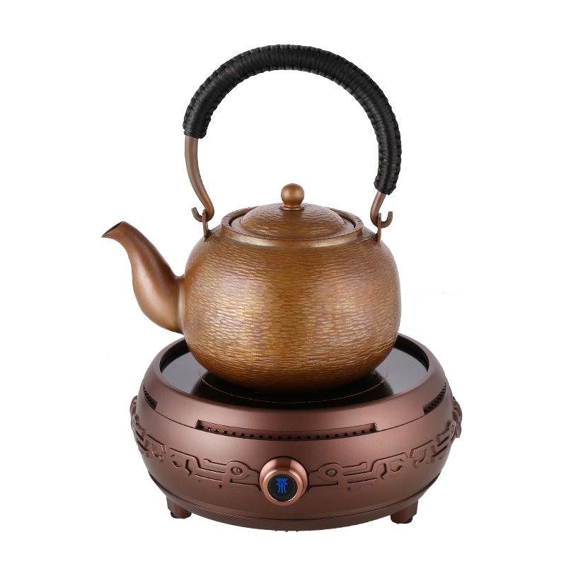 洛洋电陶炉茶炉烧水泡茶小微型煮茶器铁铜银玻璃壶工夫茶具超静音