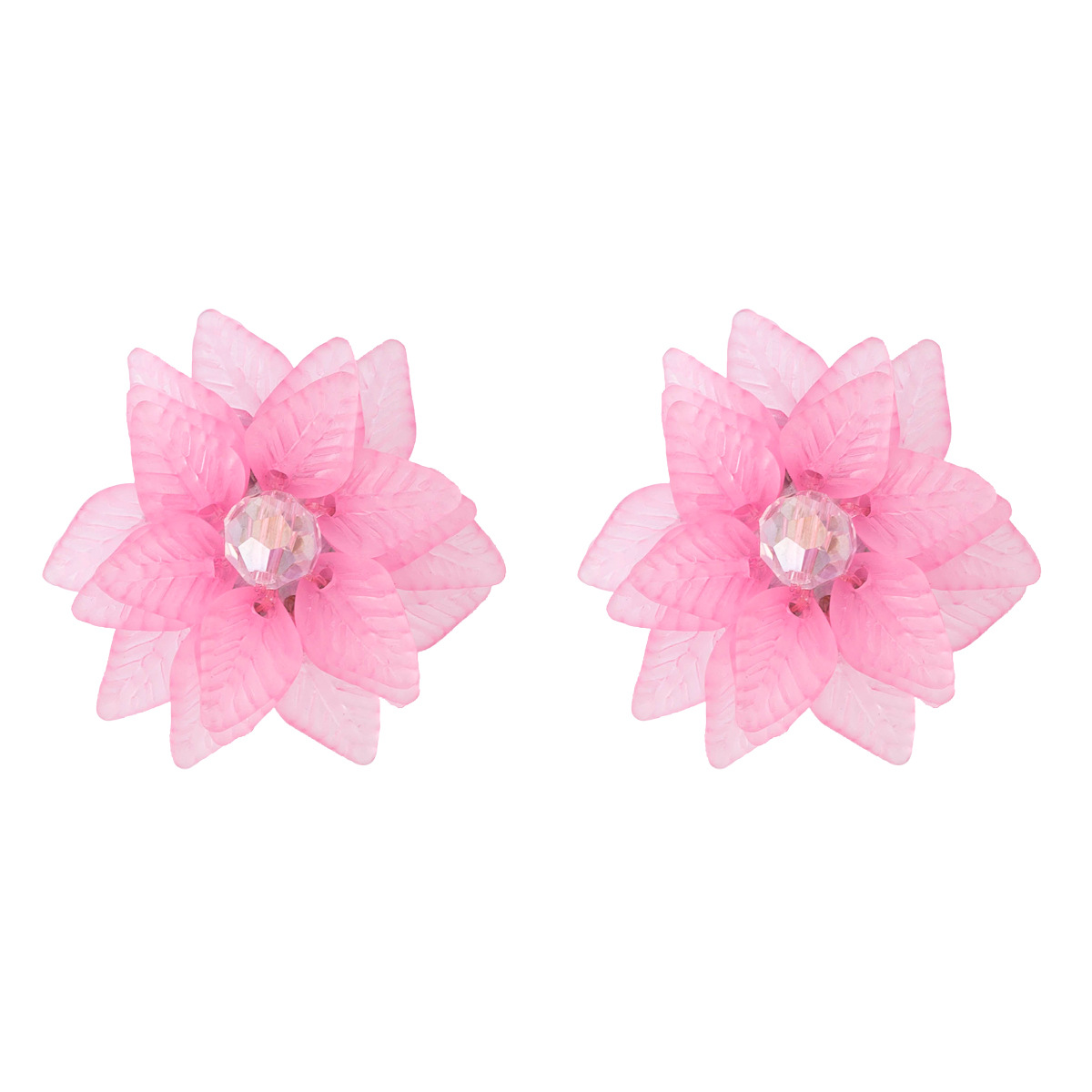 Alloy Fashion Flowers earring  (white) NHJE1894-white