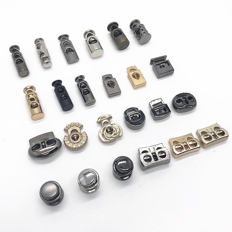 钮扣子批发 金属双孔圆形弹簧扣绳扣锁扣绳子卡扣弹簧扣批发