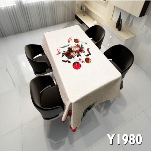 Tablecloth table cloth table cover Christmas Art waterproof and antifouling creative printing table European Christmas table