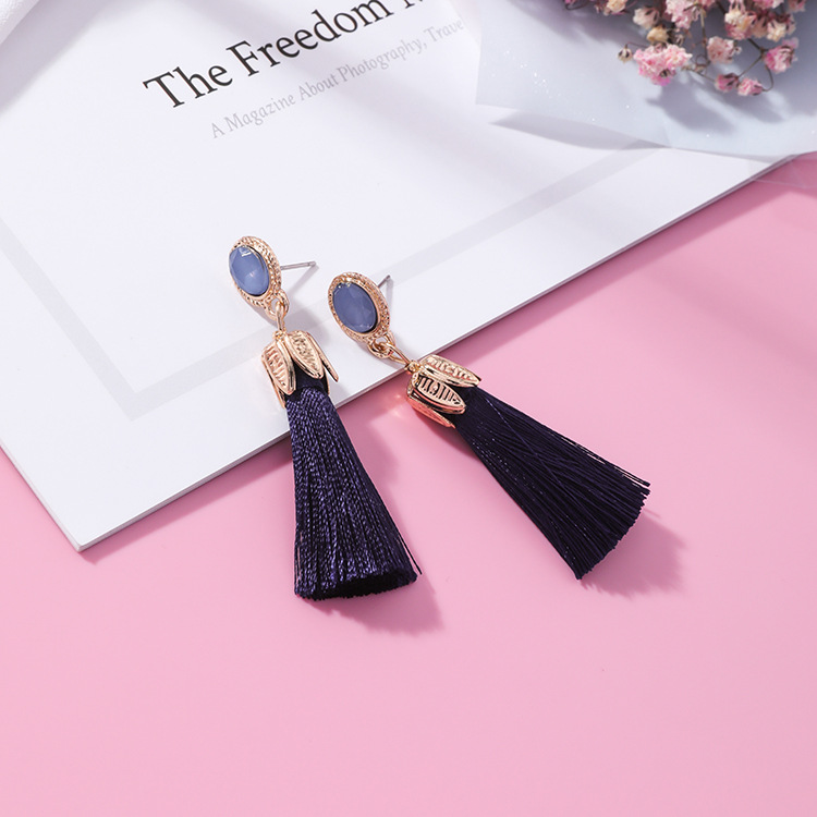 Alloy Korea Geometric earring(K5311 mint color) NHMS0989-K5311-mint-color
