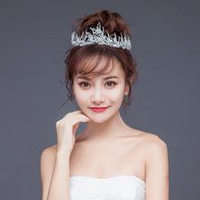 新娘头饰 巴洛克古金树枝手工皇冠新娘公主皇冠婚纱配饰 皇冠发饰